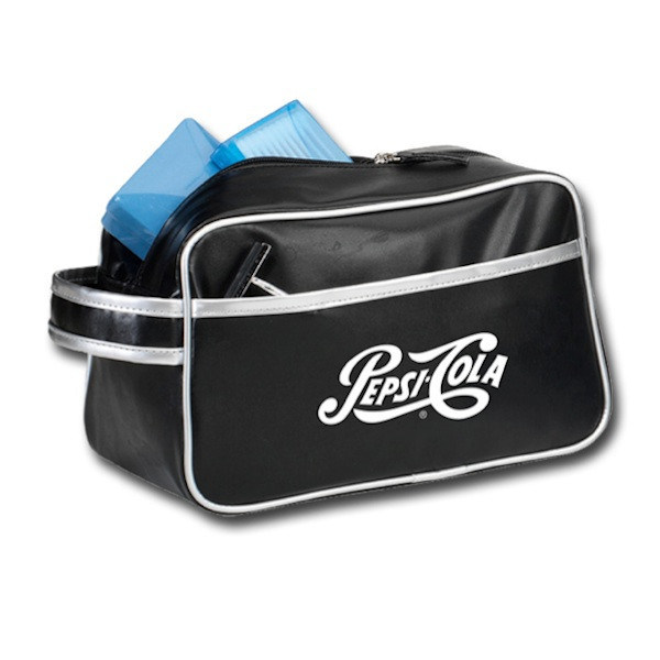 Promotional Mens PU Leather Travel Cosmetic Bag