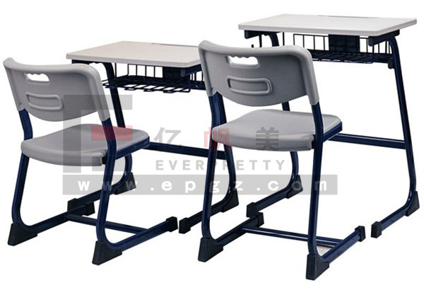 School Furniture for School Wooden Single Desk and Chair