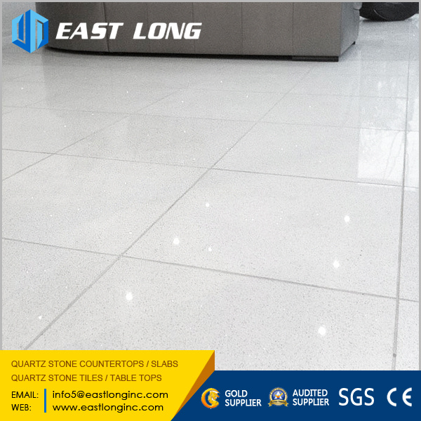Cheap Glass Sparkling Quartz Tiles Polished Solid Surface for Home Design /Engineered