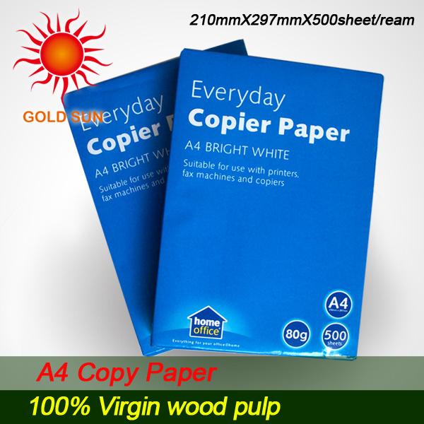 100% Wood Pulp Waterproof Copy Paper for Printing