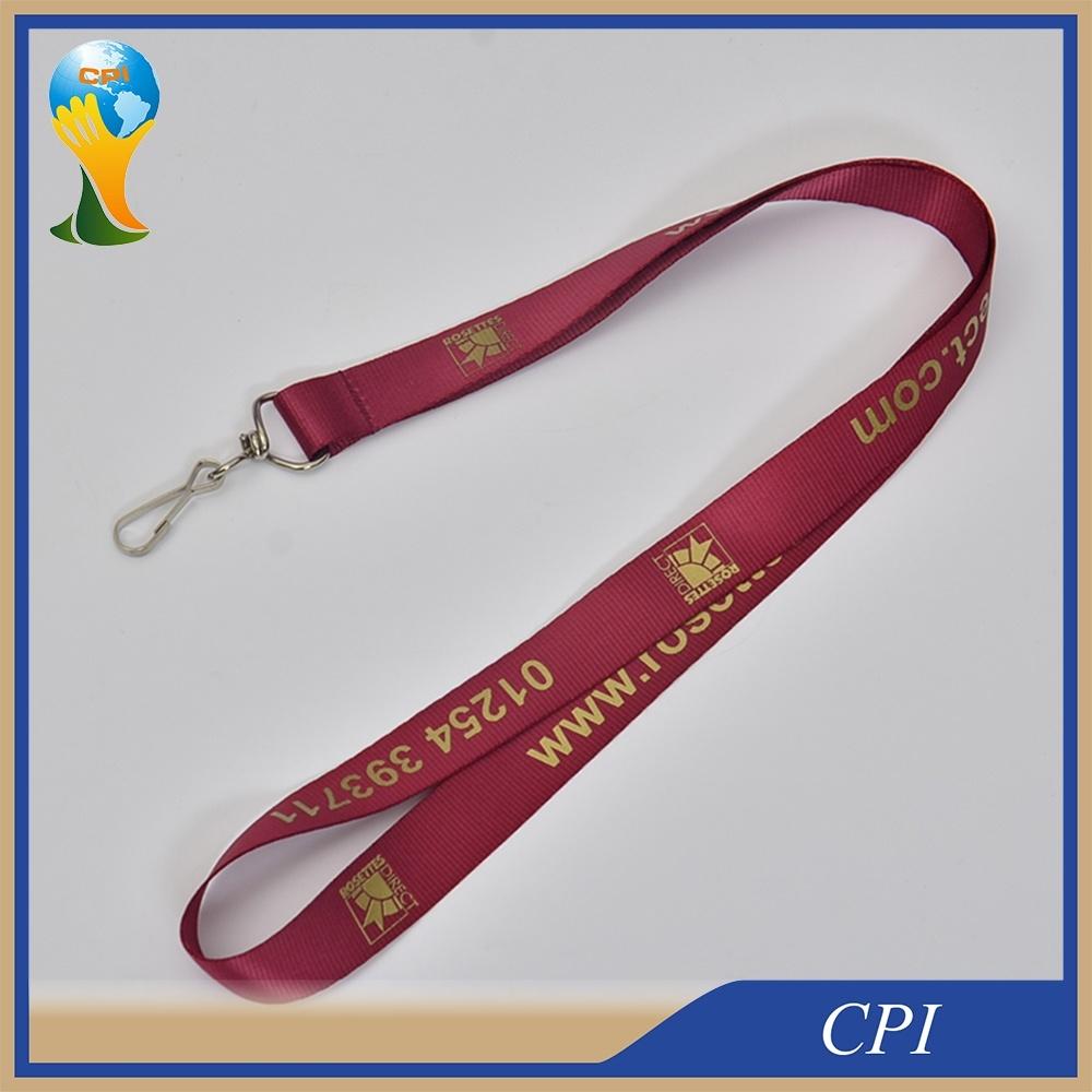 Custom Nylon Lanyard with Golden printing Logo