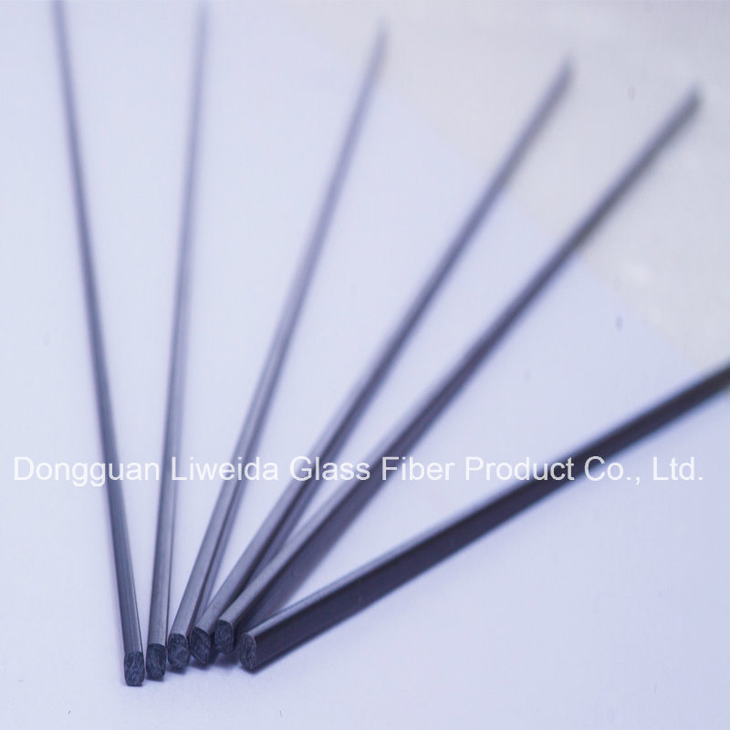 High Quality Solid Carbon Fiber Round Rod/Bar, Carbon Fiber Pole