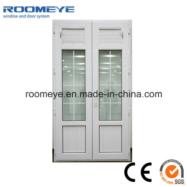 Modern Design Aluminium Casement Door with Aluminium Jalousie