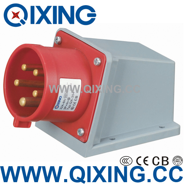 Wall Install Male Plug with CE Certification (QX-354)