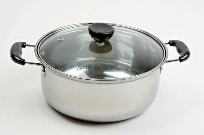china cooking pot with two knobs yg552 china stainless steel pot sauce pot