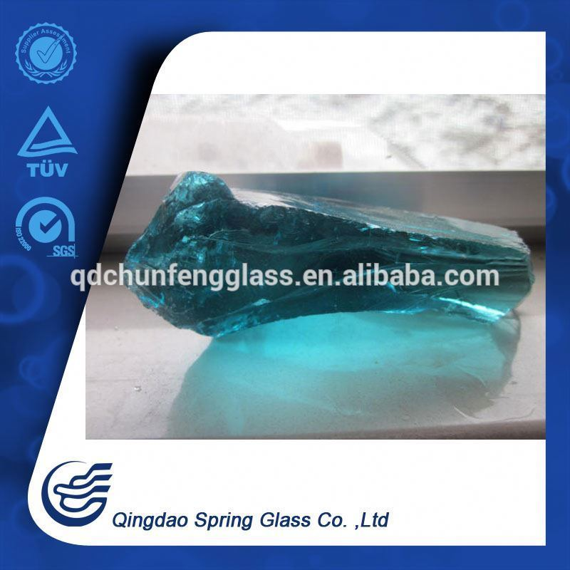 Clear Light Blue Glass Rocks for Garden Decoration