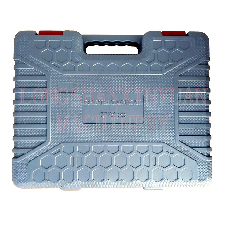 "1/2""-13-5/8"" Deluxe Steel High Hardness 58PCS Clamping Kit in Toolbox"