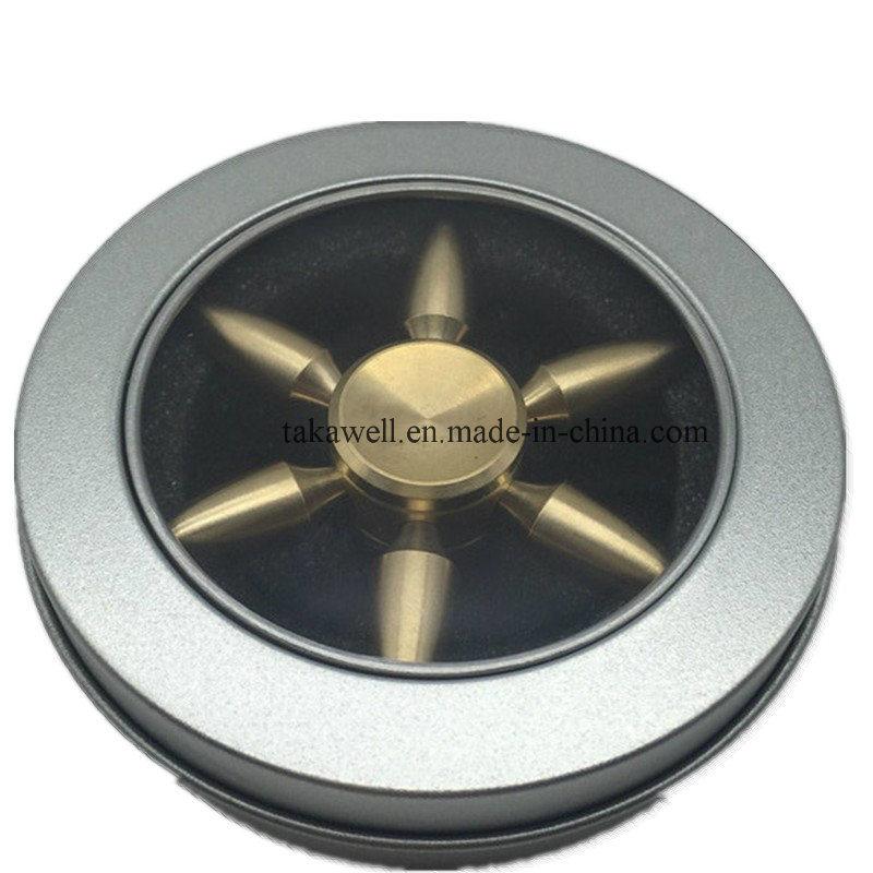 2017 Factory Wholesale Metal Bullet Shape Fidget Hand Spinner