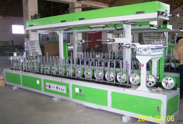 Woodworking Machine Cold Glue Profile Wrapping Machine