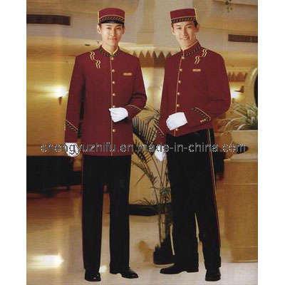 China Hotel Bellhop Uniform China Hotel Work Uniform