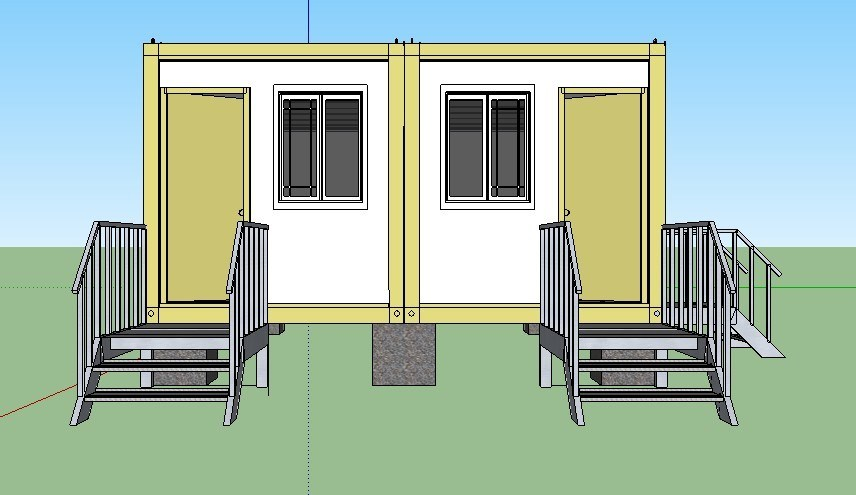 China 2 Bedroom Prefabricated Modular Houses Modern Cheap