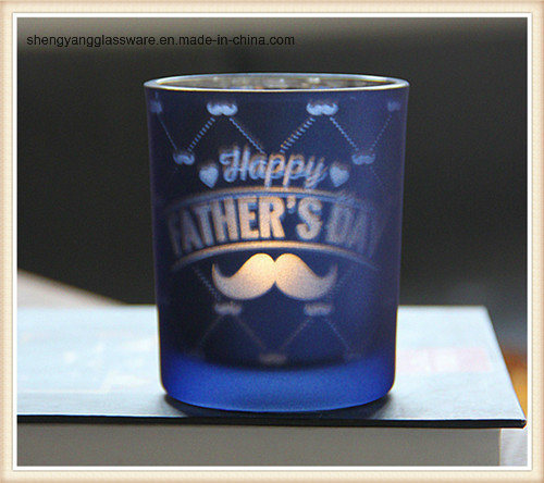Plating Holiday Articles Glass Candle Holder Cup