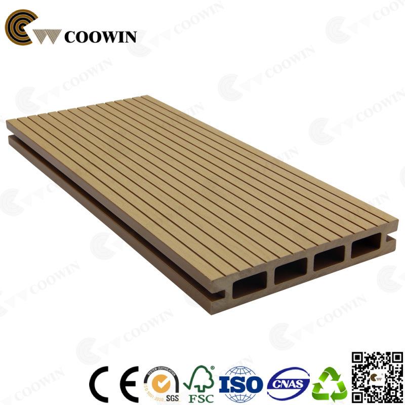 Waterproof Wooden WPC Groove Balcony Flooring Materials
