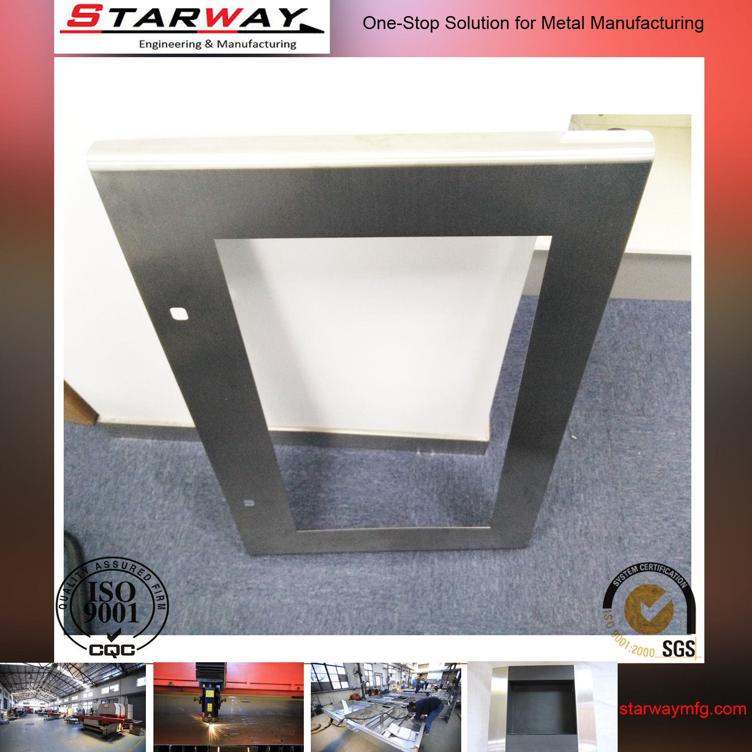Custom Structural Steel Sheet Metal Box Fabrication