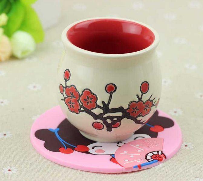 Professional Manufacture Food Grade Silicone Cup Mat/Mug Mat