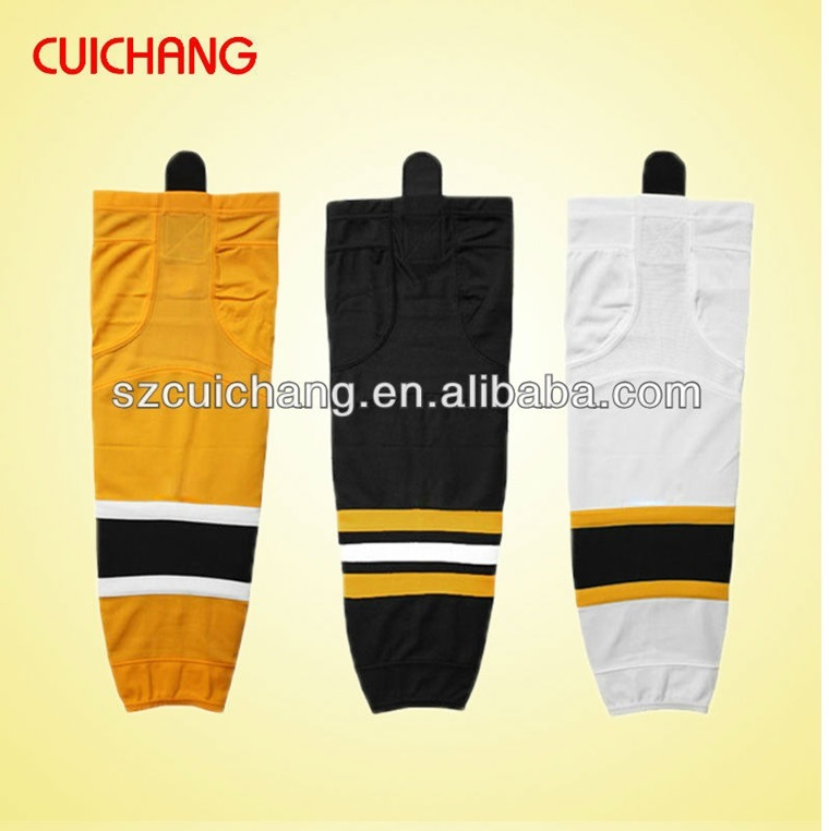 Ice Hockey Sock, Wholesale Polyester/ Spandex Custom Design Ice Hockey Socks