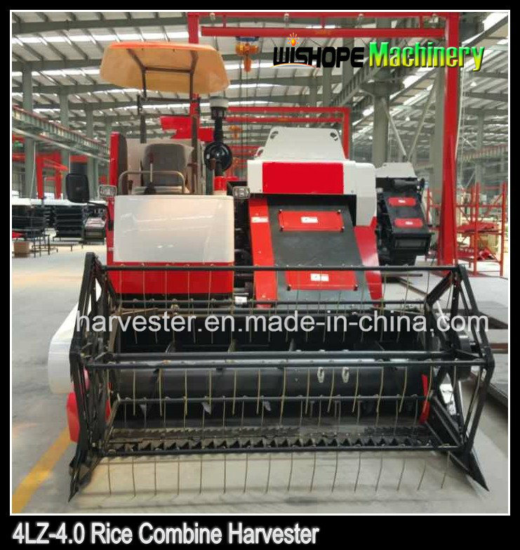 4.0kg Per Second Feeding Capacity Crawler Harvester for Rice, Wheat and Rape Seed