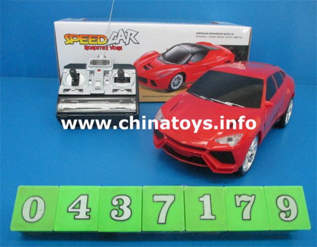 Plastic RC Car Toys, 4 CH Remote Control Car RC Model (0437184)