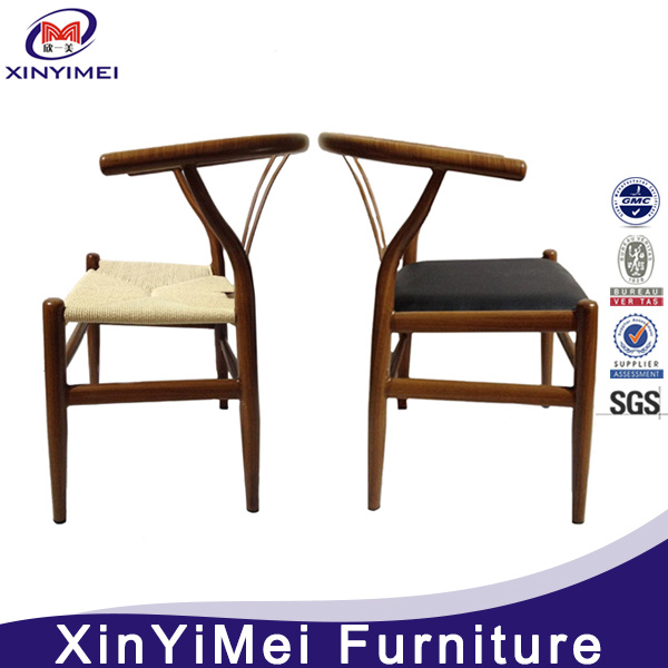 American Walnut Wood Frame Woven Paper Cord Wegner Y Chair, Wishbone Chair