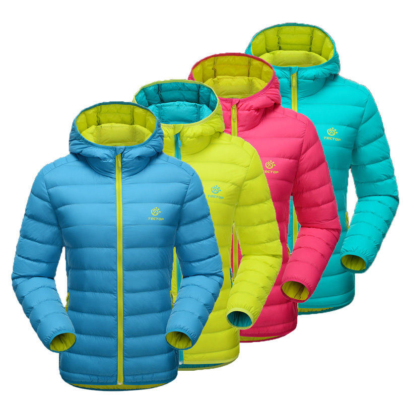 Womens Warm Ultra Light Puffer Duck Down Jacket Parka Waterproof Ski Snow Coat