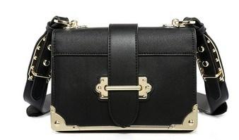 Hot Fashion Studded Ladies Messenger Bags Colorful Strap Handbags (LDO01667)
