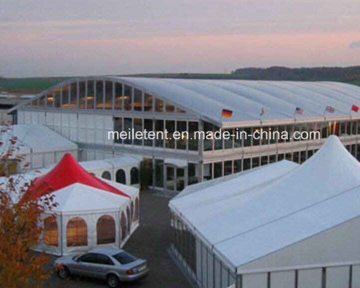40X60m Luxury Outdoor Exhibition Hall Big Glass Tents for Events