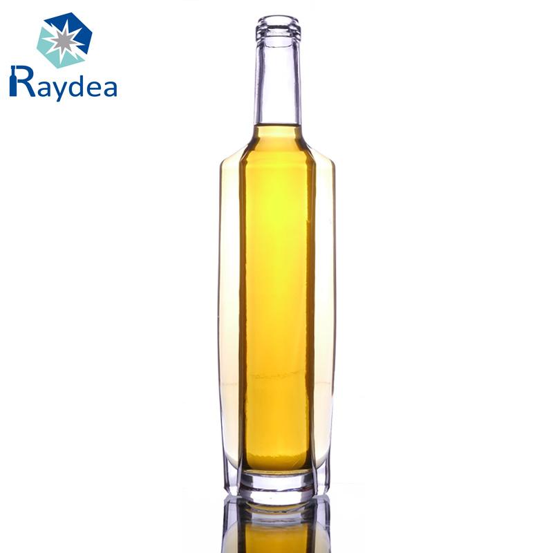 500cc Flask Glass Wine Bottle with Flint Glass