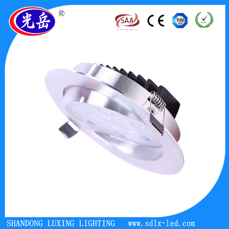Aluminum+PC 3W/5W/7W/9W/12W/15W LED Ceiling Light/LED Downlight