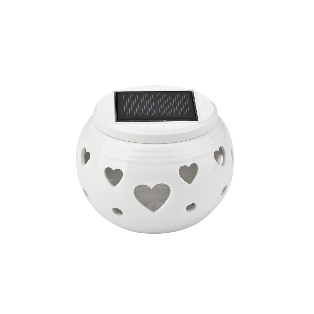 Colour Changing Solar Ceramic Lamp for Valentine′s Day Gift