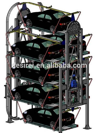 Multi-Level Vertical Rotary Smart Car Parking System