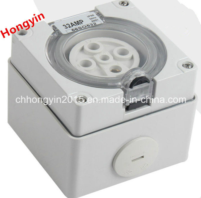 Extension IP66 500V 32A 5pin Waterproof Electric Industrial Combination Switched Sockets