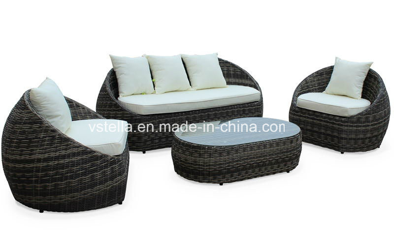 4-Piece Backyard Wicker Rattan Patio Outdoor Furniture