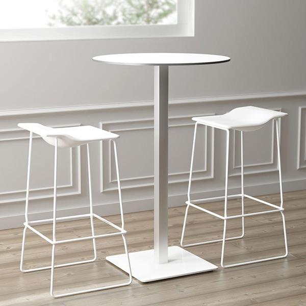 Uispair Modern 100% Steel Table Round Office Home Living Dining Room Bedroom Garden Restaurant Furniture