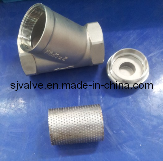 CF8 Threaded Y Type Strainer