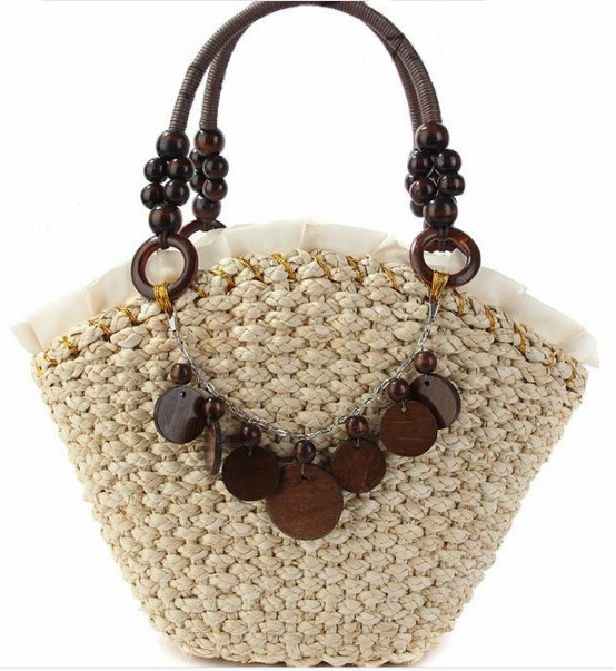 Fast Selling Sunflower Handmade Handbag Straw Bag Beach Bag
