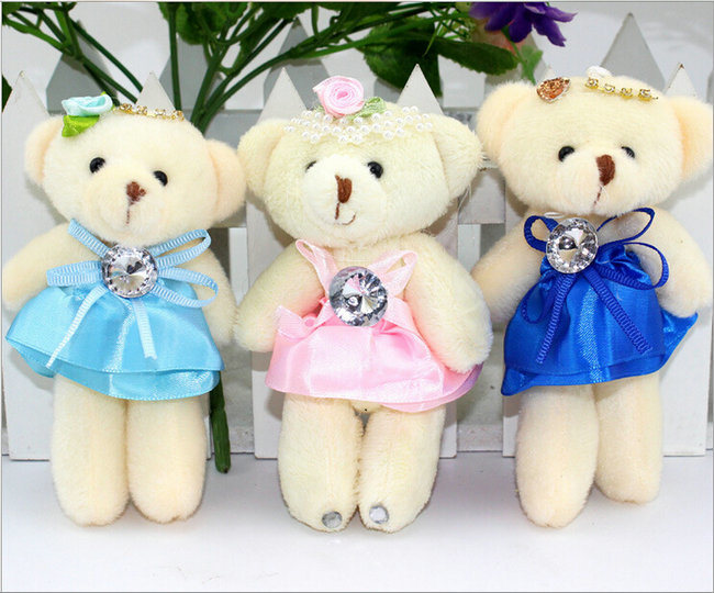 Mini Size Teddy Bear Plush Stuffed Soft Toy Keychains