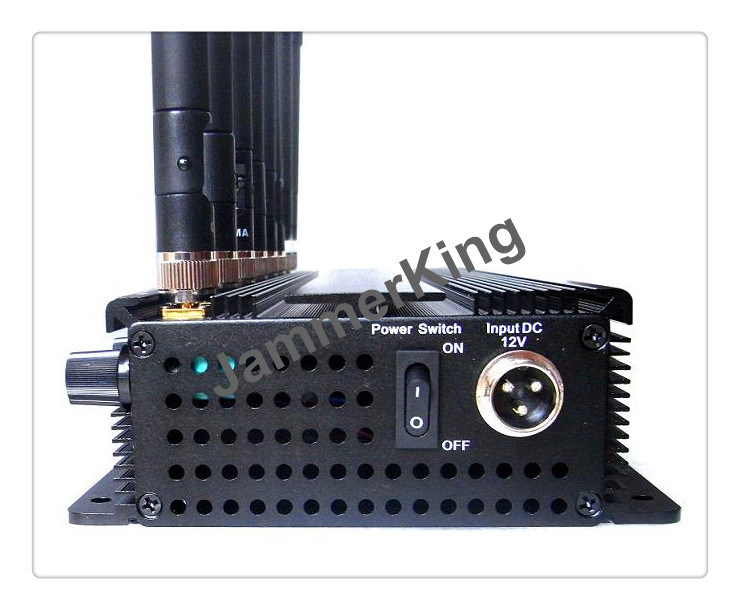 8 Antenna Jammer for 2g+3G+2.4gwifi +Remote Control+Gpsl1+Lojack