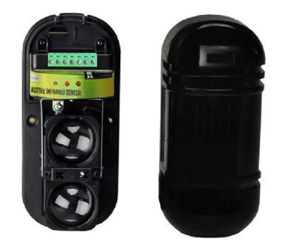 2 Beams Outdoor Infrared Beam IR Detector Active IR Detector