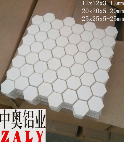 92% 95% Al2O3 Alumina Ceramic Hexagon Tile