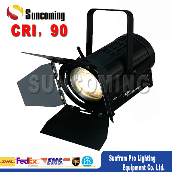 CRI 90 Professinal TV Studio 180W LED Fresnel Spot
