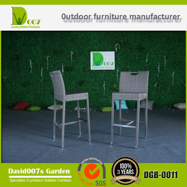 Garden Rattan Furniture Bar Set with Cushion for Outdoor