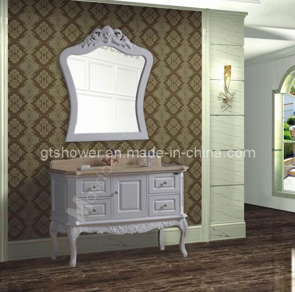 Cabinet blanc antique de vanit de salle de bains de 48 for Cabinet de salle de bain