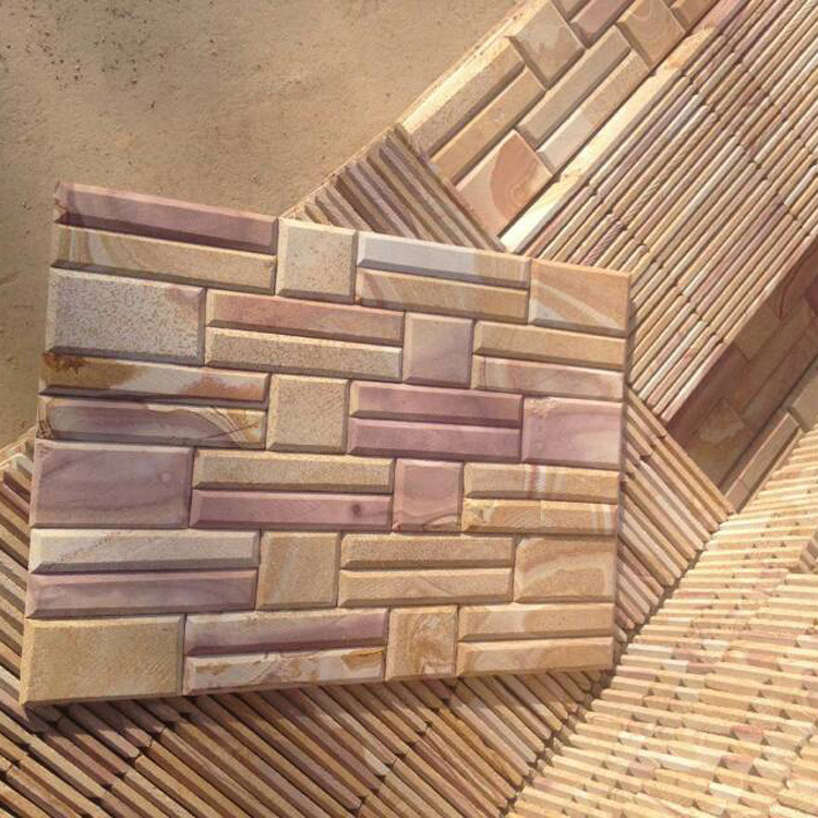China Natural Sandstone Chimfer Exterior Wall Panels (SMC-SCP461)