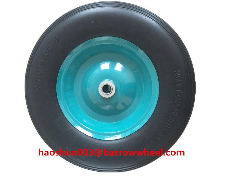 400-8 Solid Flat Free PU Foam Wheel for Wheel Barrow