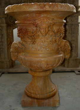 Marble Pot for Garden Stone Decoration Sculpture