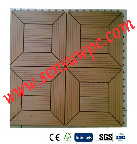 WPC DIY Decking Tiles Are Use for outdoor