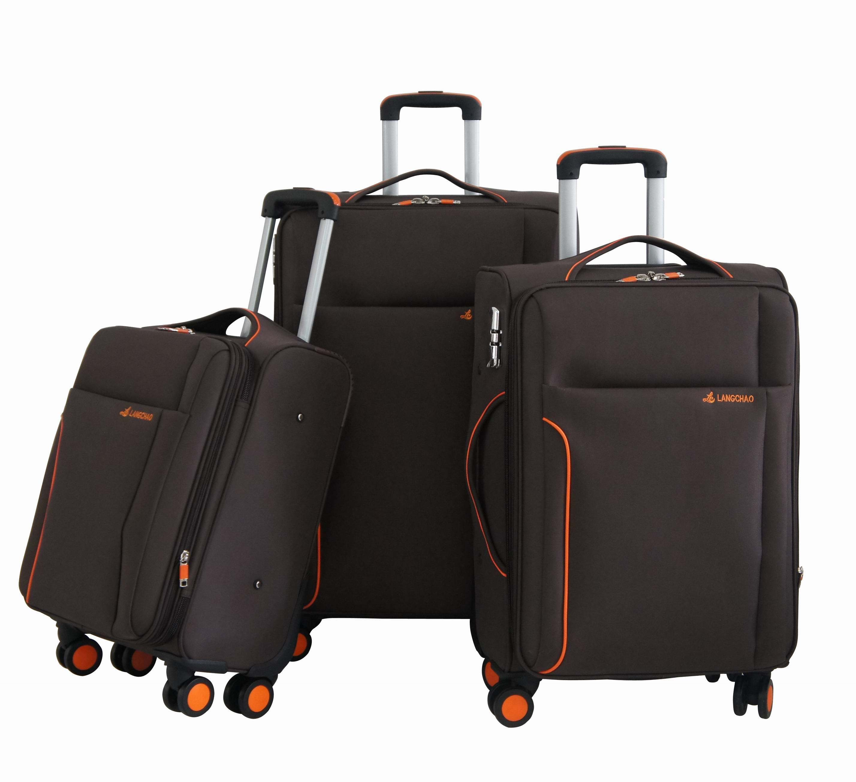 Fabric Soft Trolley Bag Luggage Set Suitcase 1jb012