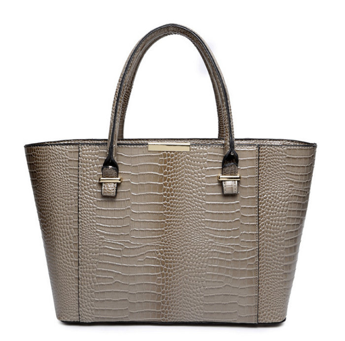 Famous Brands Handbags 2016 Elegant Female Big Bags Crocodile Handbag