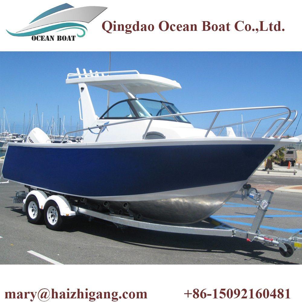 6.25m Center Cabin 25FT Aluminum Luxury Hard Top Lifetyle Speed Yacht Motor Boat