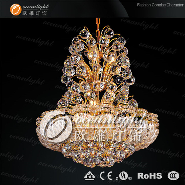 Wholesale Gold Crystal Large Palace Chandeliers, Nice Chandelier Lighting (OW569)